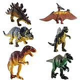 FOGAWA 6 Stück Dinosaurier Spielzeug Set Dinosaurier Figuren Dino Figuren Kinder Realistische Dinos...