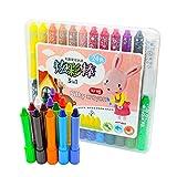 Souarts 24er Buntstifte Set für Kleinkinder Ungiftig Wachsmalstifte Wachsmalkreiden Sticks