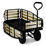 Waldbeck Ventura - Bollerwagen, Handwagen, abklappbare Seitenteile, witterungsbestndig, 300 kg...