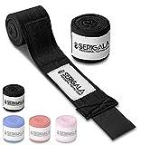 Serigala 4,5m Boxbandagen mit Daumenschlaufe - Halb elastische Bandagen Boxen mit extra breitem...