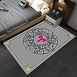 juan Teppich Cartoon Grau Geometrisches Muster Teppich Weiche Kinderzimmer Teppich Computer Stuhl...