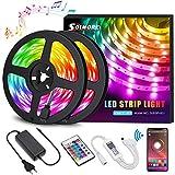 LED Strip RGB 10M LED Streifen steuerbar via App, Led stripes Lichtband Leiste Band mit...