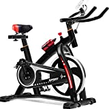 ZJDK Heimtrainer, Indoor Cycling Stationäres Fahrrad, Lenker und bequemes Seat Spin Heimtrainer mit...
