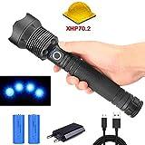 95000 Lumen Lampe Xhp70.2 Most Powerful Taschenlampe Usb Zoom LED-Taschenlampe Xhp70 18650 oder...