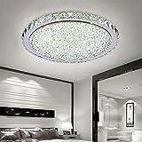 ETiME 48W Deckenleuchte Kristall LED Ø52cm Deckenlampe Rund Kaltweiß (6000K-6500K) Wohnzimmer...