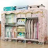 SOTCE DIY Tragbarer Kleiderschrank Home Boden Tragbare Zimmer Schlafzimmer multifunktional...
