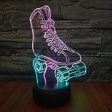 New Style Skates LED 3D Nachtlicht Visuelle Kreativität Bunte Kinder Tischlampe USB Stereo 3D...