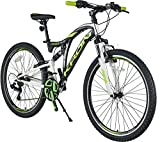 KRON ARES 4.0 Fully Mountainbike 26 Zoll | 21 Gang Shimano Kettenschaltung mit V-Bremse | 16.5 Zoll...