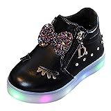 LED Schuhe Unisex-Kinder Hohe Sneaker Leuchtschuhe Licht Blinkschuhe Leuchtende Sport Sneaker Light...