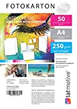 TATMOTIVE F01M50 Fotokarton Fotopapier 250g matt weiß/Laserdrucker/DIN A4 / Beidseitig bedruckbar /...
