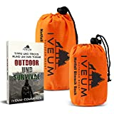 Set aus Biwaksack und Notfallzelt INKL. EBOOK  Notfall Schlafsack fr Outdoor  ultraleichtes bivy Bag...