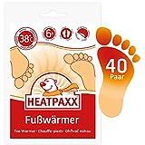 HeatPaxx Fußwärmer | 40 Paar | EXTRA WARM | Hauchdünne Zehenwärmer, Wärmpads | für unterwegs...