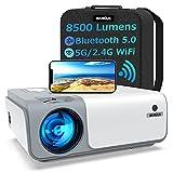 Beamer, WiMiUS 8500 Lumen Full HD 1080P Beamer 5G WiFi Bluetooth Beamer LED Heimkino Projektor...