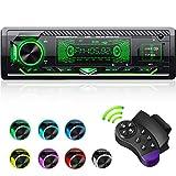 CENXINY Autoradio mit Bluetooth Freisprecheinrichtung, 7 Farben Licht Einstellbar 1 Din Autoradio...