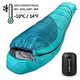 Bessport Schlafsack Winter | -10C Outdoor Mumienschlafsack fr Erwachsene, Camping - Ultraleichter...