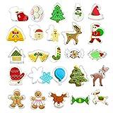25 Stück Ausstechformen Weihnachten, Plätzchen Ausstecher Mini, Keksausstecher Weihnachten,...