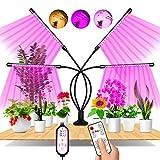 EWEIMA Pflanzenlampe LED, 4 Heads 80LEDs Pflanzenlicht Vollspektrum, 360°Einstellbar LED Grow Lampe...