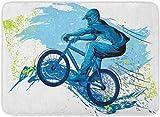 ECNM56B Fußmatten Bad Teppiche Fußmatte BMX von Sportler Radfahren Extreme Bike Freestyle...