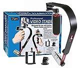 Handheld Video Stabilisator für Digitalkameras und Camcorder–GoPro & Smartphone Adapter im...