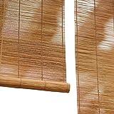 58SD Bambus-Rollo zum Anheben, wasserfest und beschlagfrei, Retro-Sonnenschutz, Verdunkelungsrollos,...