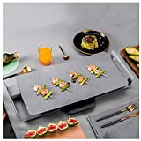 Elektrogrill,Mit Antihaft-Keramik-Backformen Rauchfreier Gegrillter Fisch FR Koreanische Teppanyaki...
