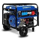 EBERTH 5500 Watt Benzin Stromerzeuger mit Fahrwerk (E-Start, 13 PS Benzinmotor, 4-Takt,...