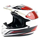 BBJZQ Motorrad Crosshelm Mit Verstellbarer Krempe,DOT Standard Motocross Helm Kinder Full face MTB...
