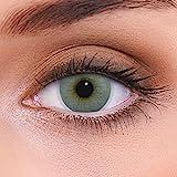 LENZOTICA Sehr stark natürlich deckende graue Kontaktlinsen farbig ATLANTIS GREY + Behälter I 1...