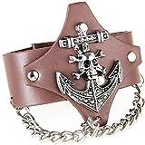 Thumby Unisex Wristband Bracelets Punk-Stil Armband Lederarmband Rock Männliche Persönlichkeit...