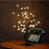 Twig Lights Indoor Tree Vine Lights, Kirschblüte 48 LED-Lampen dekorativ, weiße LEDs Firefly...
