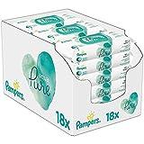 Pampers Baby Feuchttücher Aqua Pure, Mit 99% Purem Wasser, Dermatologisch Getestet, 864 Tücher (18...