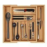 Besteckkasten Bambus ausziehbar 5-7 Fächer Besteckfach Besteckeinsätze für Schubladen...