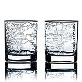 Greenline Goods Whiskeygläser – 284 ml Tumbler Set für San Diego Liebhaber, geätzt mit San...