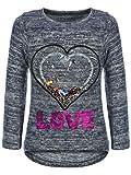 BEZLIT Kinder Mädchen Pullover Sweatshirt Pulli Wende-Pailletten Sweater Langarm-Shirt 30014 Blau...