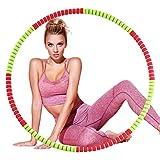 Jeteven Fitnessreifen, Fitnesskreis für Erwachsene, 8 Abnehmbarer Design Fitness Reifen mit...