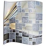 Tile Style Decals 24 stück Silber Chrom Spiegel Garu Fliesenaufkleber für Küche und Bad Mosaik...