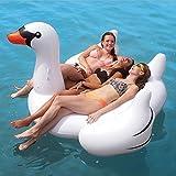 Delicatewn Schwimmstuhl, aufblasbar, weißer Schwan, schwimmende Reihe, Schwimmbecken, aufblasbares...