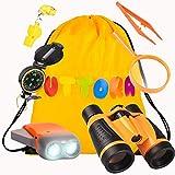 UTTORA Kinder Fernglas Spielzeug Set ,Draussen Forscherset Kit Abenteuerspielzeug fr Kinder mit...