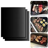 PENVEAT BBQ Grillmatte, 5 Stück, antihaftbeschichtet, Grillmatte, Backmatte, wiederverwendbar, für...