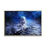 Geiqianjiumai Astronaut Poster Erde mond Raumschiff Wohnzimmer Bild Wand kinderzimmer Baby...