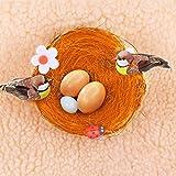 Vogelnest dekoration 10er Pack Knstliche Nester Osterhandgemachte Gewebte Handwerks Dekoration
