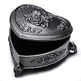 Unendlich U Luxus Prinzessin Schmuckbox mit Vintage Style Antique klein Herz und Liebe Rose mit...