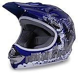 Motorradhelm Kinder Cross Helme Sturzhelm Schutzhelm Helm für Motorrad Kinderquad und Crossbike...