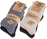 4 Paar dicke flauschige warme Alpaka Socken [100% AlpDick39-42]