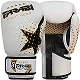 FARABI Kinder-Boxhandschuhe, MMA, Muay Thai, Junior-Boxsack-Handschuhe, weiß 113 g
