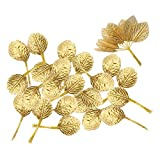 VANKOA 144x Kunstblumen Dekor Geschenk Girlande Weihnachtsdeko Party Blume - Golden