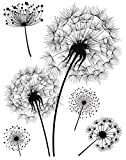 HERMA 15126 Fensterbilder 'Pusteblume', wiederverwendbar, selbstklebende Fenstersticker aus Folie...