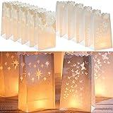 NAKAMARI Lichtertüten: Lichttüten: 10 Spezial-Papiertüten für Teelichter (Papiertüten Lichter)