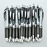 Pentel EnerGel RTX Deluxe Gelschreiber, einziehbar, feine 0,7 mm Metallspitze, schwarze Tinte,...