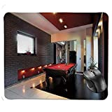 Bglkcs Premium-strukturiertes Mauspad, Haus mit Snooker-Tisch Hobby-Pool-Spiel Flachmöbel...